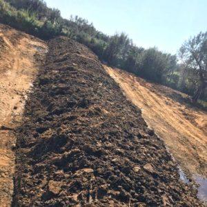 Butte de compost en agriculture biodynamie