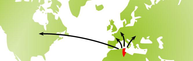 carte du monde clients bio